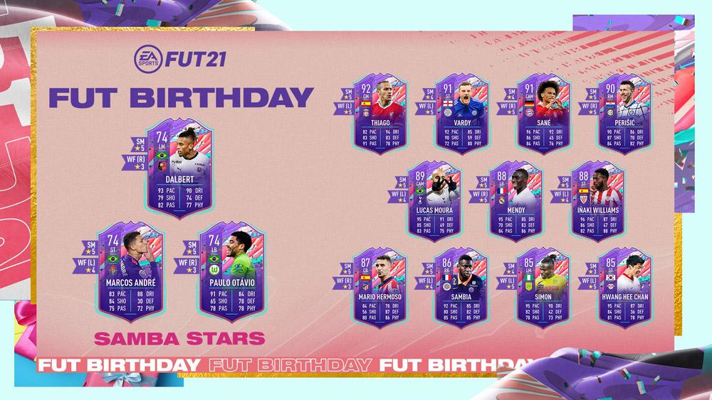estrellas de samba objetivos fut birthday fifa 21