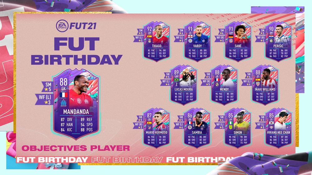 Steve Mandanda FUT Birthday FIFA 21 objetivos