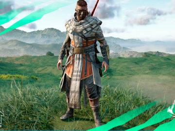 armadura egipcia assassins creed valhalla ira druidas casco pechera brazaletes pantalones capa khopesh